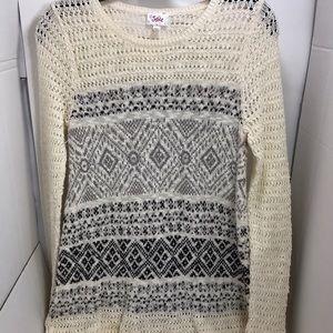⛅️Justice Juniors Designed Knit Sweater